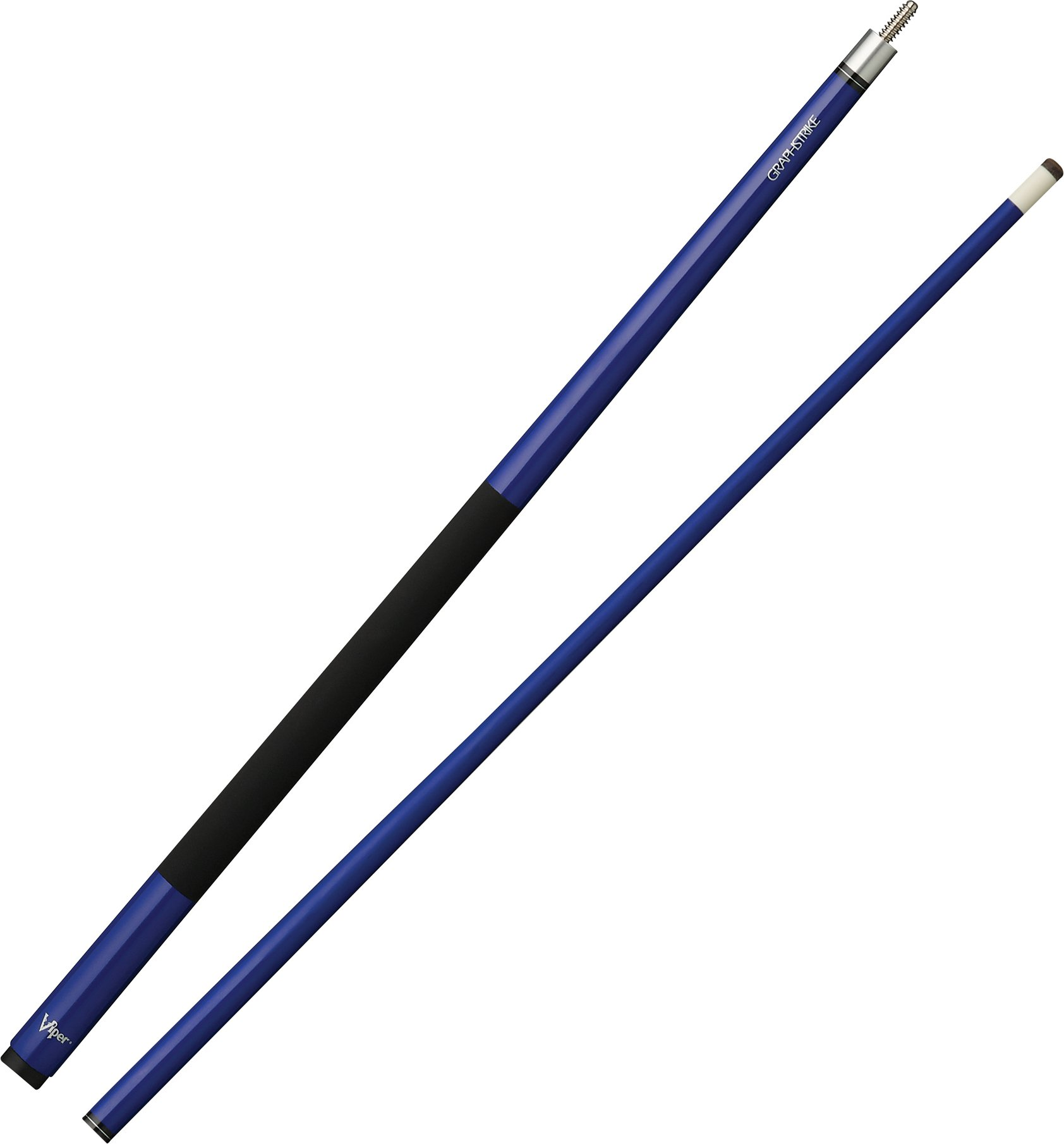 Viper Graphstrike 58'' 2-Piece Fiberglass Graphite Composite Billiard/Pool Cue, Blue