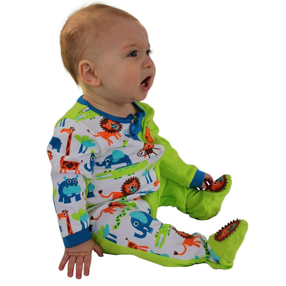 Sozo Baby-Boys Newborn Jungle Footie