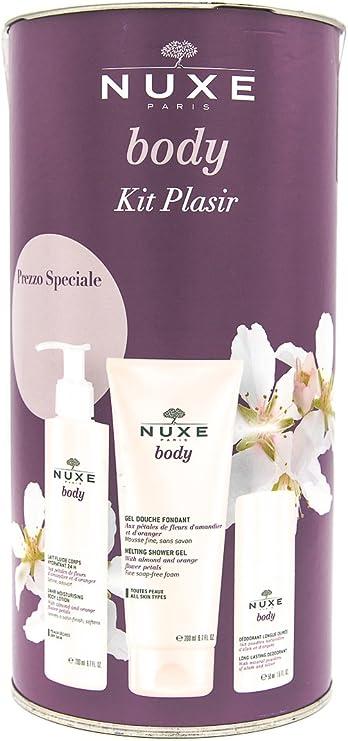 Nuxe Body estuche Kit Plasir Leche Fluido + Gel Ducha + Ambientador larga duración: Amazon.es: Salud y cuidado personal