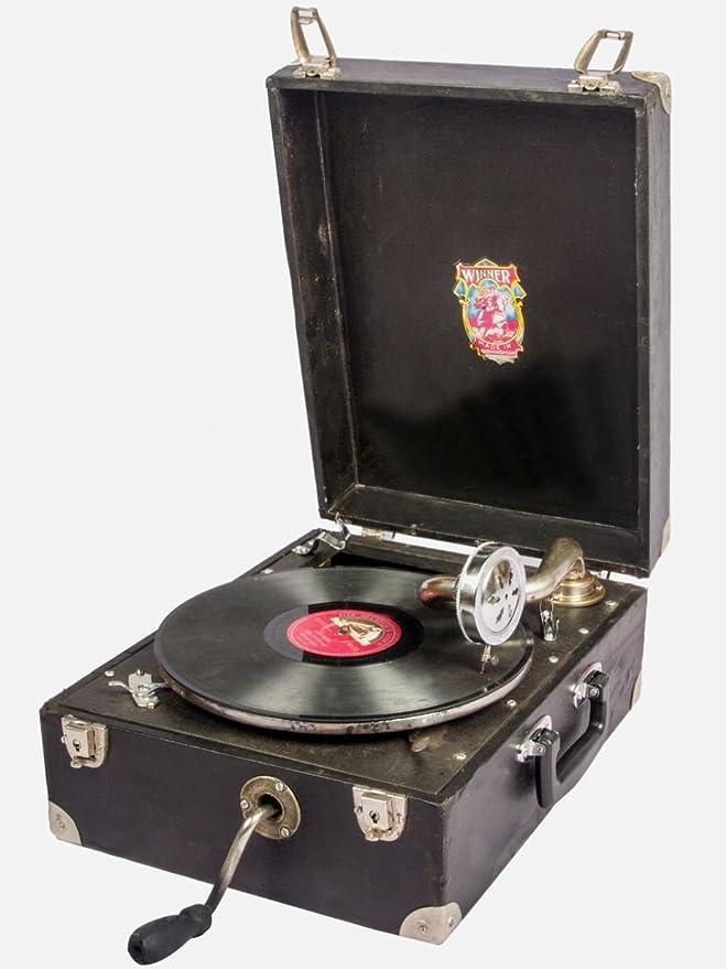Global Art mundo antiguo gramófono Tocadiscos casa decoración ...