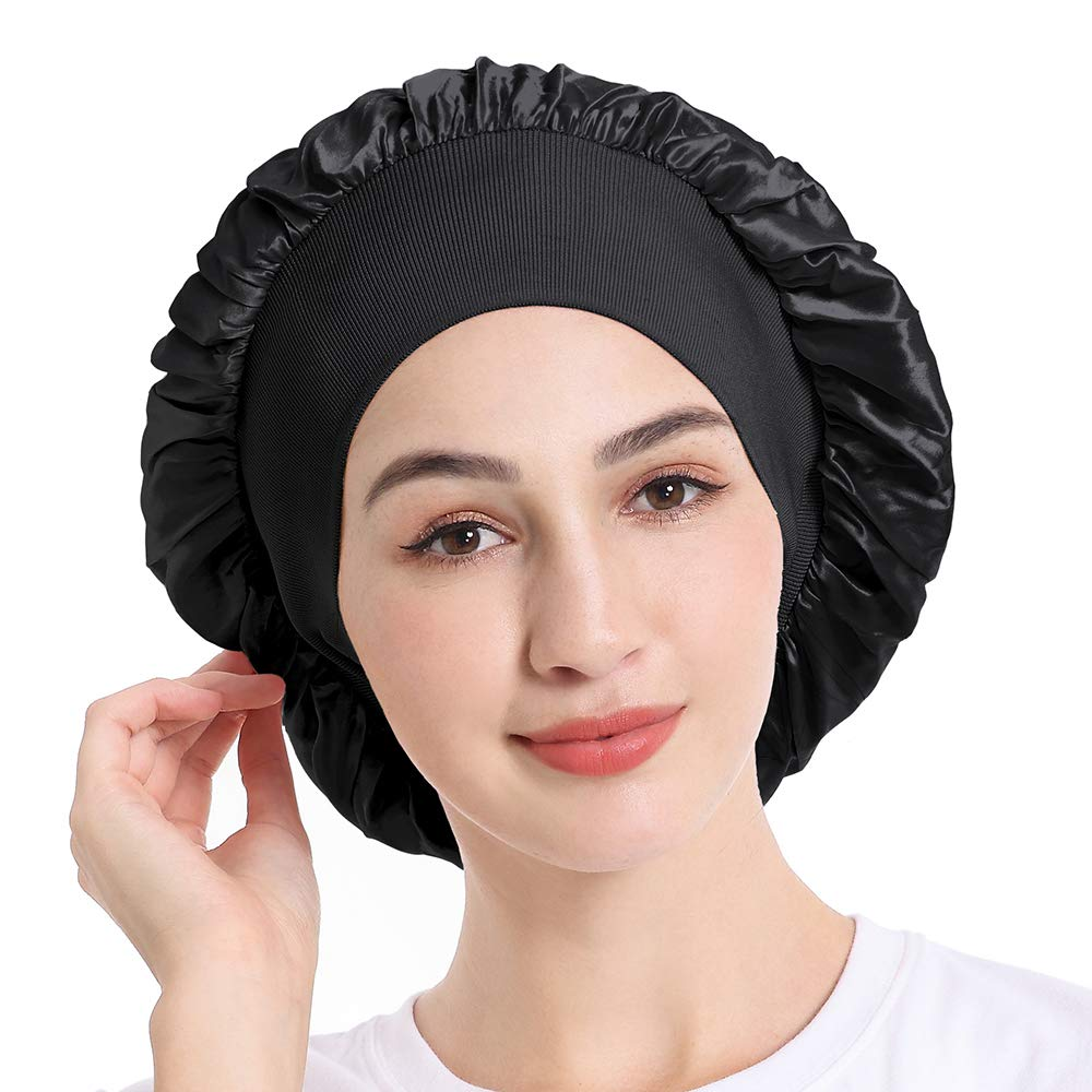 Silk Shiny Head Scarf Turban Wrap Cap,Women Winter Hat 2019 Winter Gift Christmas Simple New Outdoor Fit