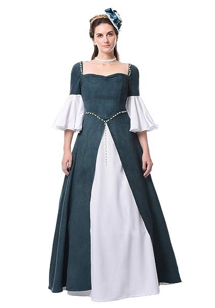 Amazon.com: Nuoqi - Disfraz medieval de renacimiento para ...
