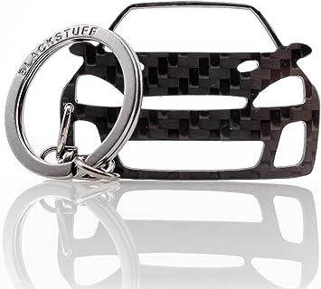 Blackstuff Carbon Karbonfaser Schlüsselanhänger Schlüsselbund Kompatibel Mit Focus Rs Mk1 1998 2004 Bs 181 Auto