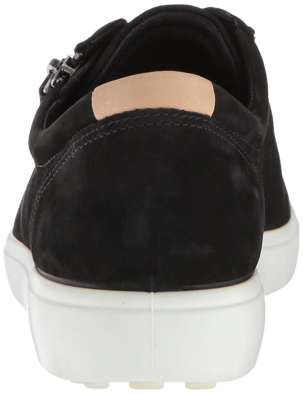 ECCO Women's Soft Sneaker B077537WG4 36 M EU (5-5.5 US)|Black Side Zip