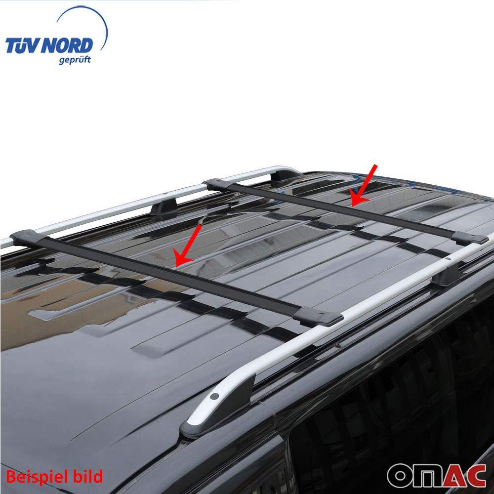 OMAC GmbH Vivaro trafic Barres de toit en aluminium Noir PRIMASTAR Porte-bagages avec T/ÜV ABE /à partir de 2001