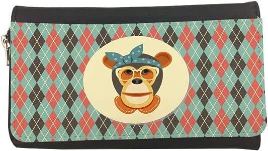 محفظة مصنوعة من الجلد بتصميم رسوم كرتونية - قرد