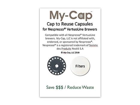 my-cap Cap a la reutilización cápsulas para Nespresso VertuoLine Brewers