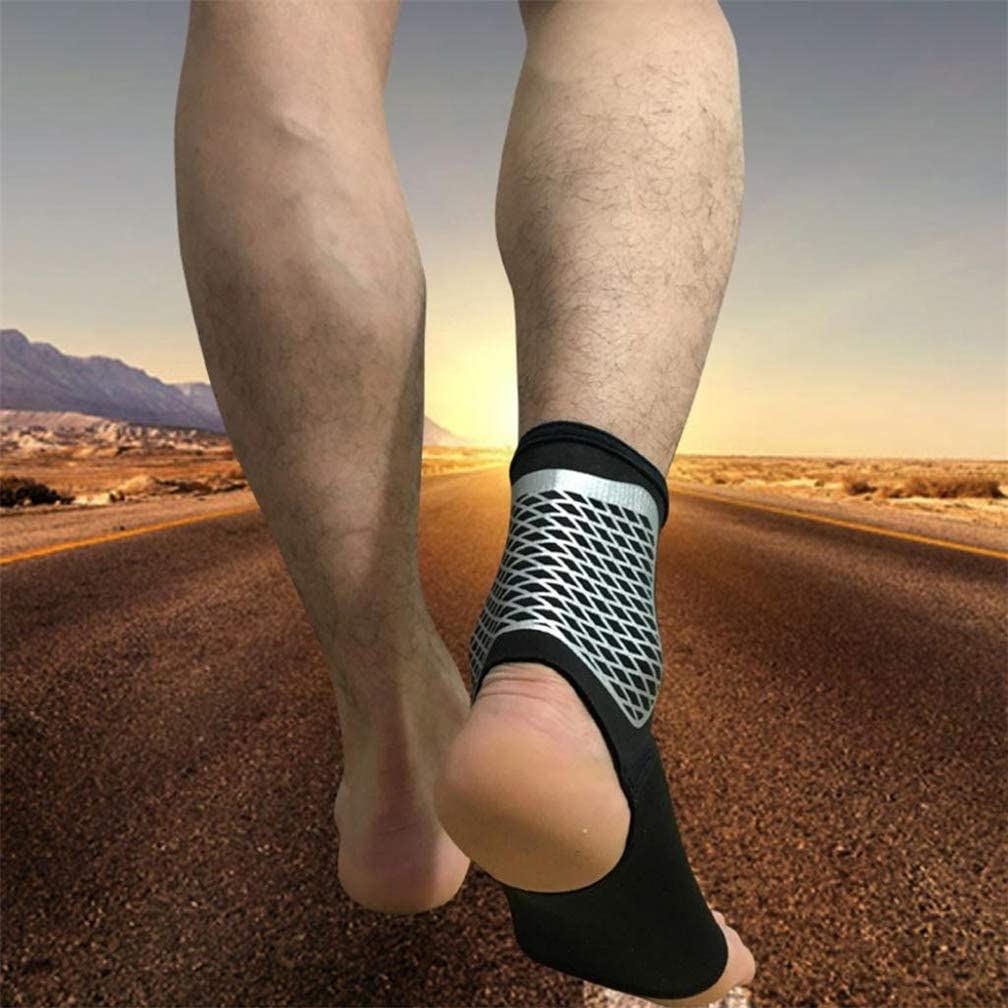 Eases Swelling Injury Recovery Ankle Sprain Joint Pain and More Ankle Compression Brace Wraps for Sport Protect Ankle Support Sleeve Heel Spurs Stable Ligament Plantar Fasciitis