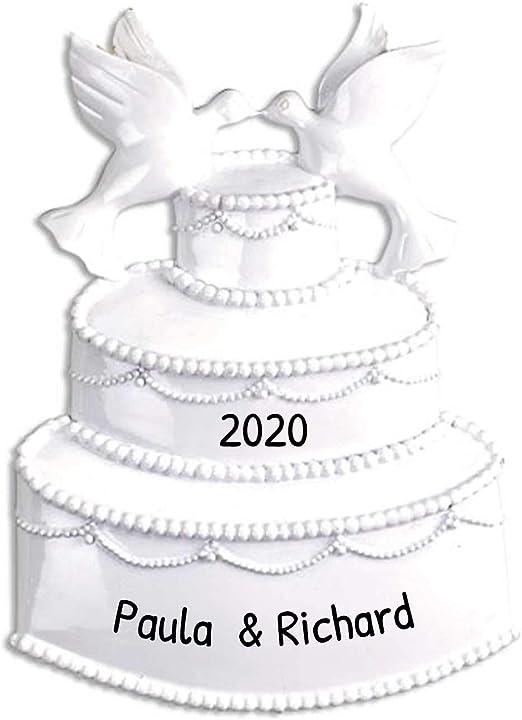Wedding Cake Christmas Ornaments 2020 Amazon.com: Personalized White Event Wedding Cake Christmas Tree