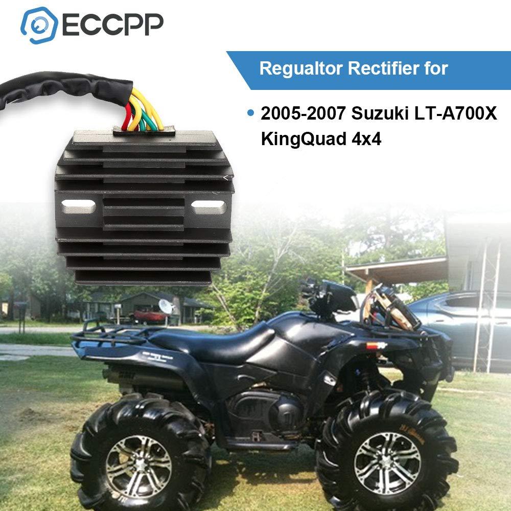 ECCPP Voltage Regulator Rectifier Fit for 2005 2006 2007 Suzuki King Quad 700 Rectifier Regulator