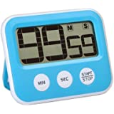 SMILEDRIVE Kitchen Countdown Timer with Stand Bigger Display, Better Accuracy, Alarm & Magnet for Cooking Workouts Chess