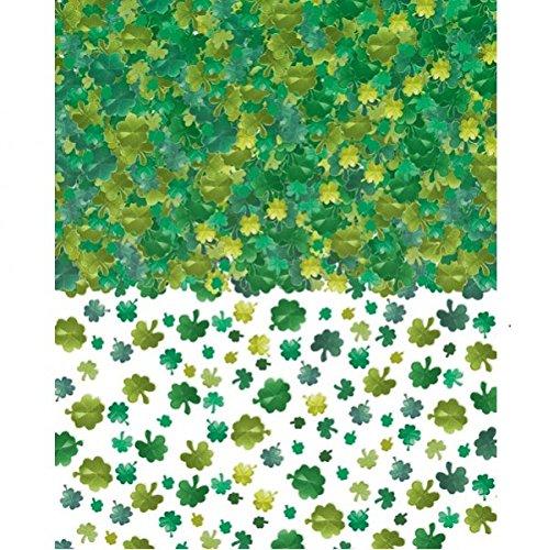 Lucky Irish Green Saint Patrick's Day Green Shamrocks Foil C