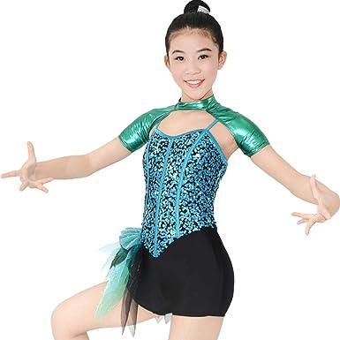 MiDee Lyrical Dress Dance Costume Illusion Sweetheart Sequins Tank Top Triangle Skirt