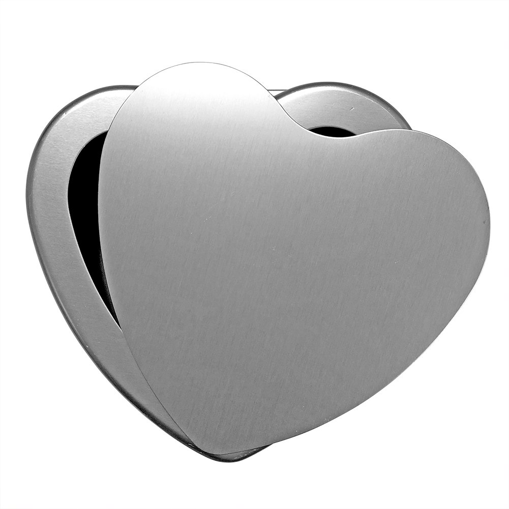 Cherion 4PC Aluminium Heart Shaped Cake Pan Set with Removable Bottom for Valentine's Day - 5'' 6'' 8'' 10'' by Cherion (Image #3)