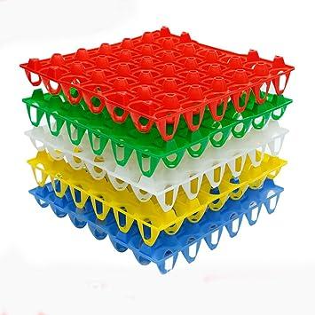 Fam & Ranch huevera de plástico bandejas para 30 piezas huevos huevo bandejas de almacenamiento