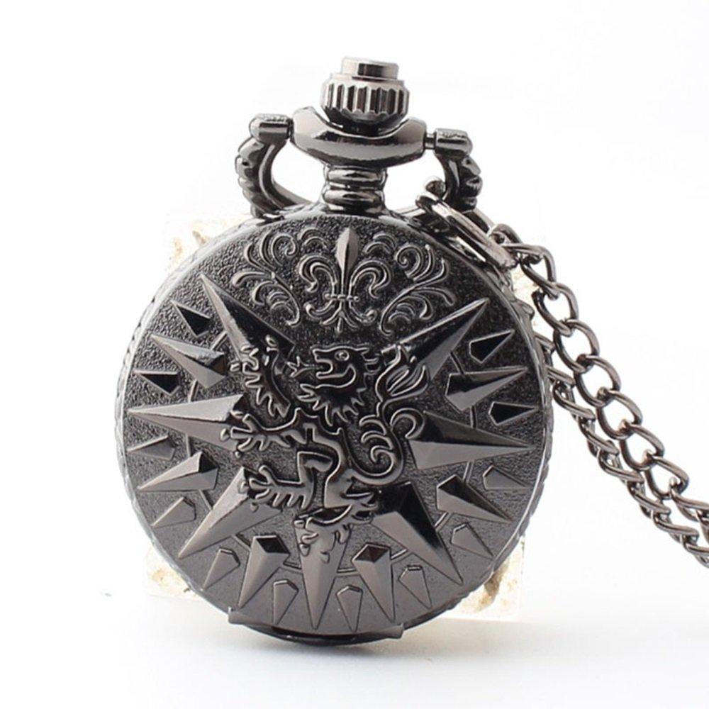 Shirleyle Retro Unisex Clamshelled Long Chain Vintage Pocket Watch For Wedding Birthday's Gift