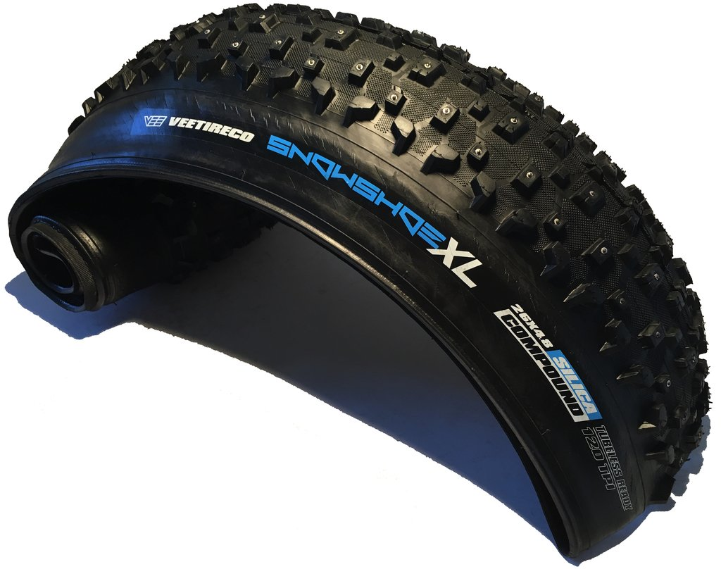 Vee Rubber Snowshoe XL Studded Fat Bike Tire: 26'' x 4.8'' 120tpi by VEE TIRE & RUBBER (Image #1)