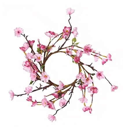ef47e846377 Amazon.com  Worth Imports Cherry Blossom Candle Ring  Home   Kitchen