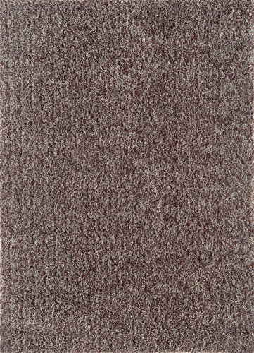 (Continental Rug Company Cloud Shag Collection Mix Pile Super Plush Shag Area Rug, 9-Feet by 12-Feet, Chocolate/Blue )