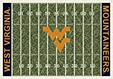 West Virginia Mountaineers NCAA College Home Field Team Area Rug 3'10''x5'4''