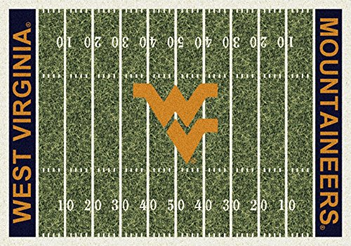 (American Floor Mats West Virginia Mountaineers NCAA College Home Field Team Area Rug 5'4