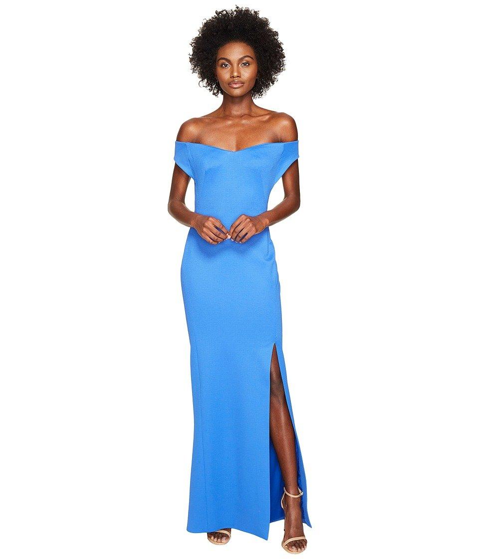 Zac Posen Women\'s Bondage Jersey Off The Shoulder Dress Blue 2 at ...