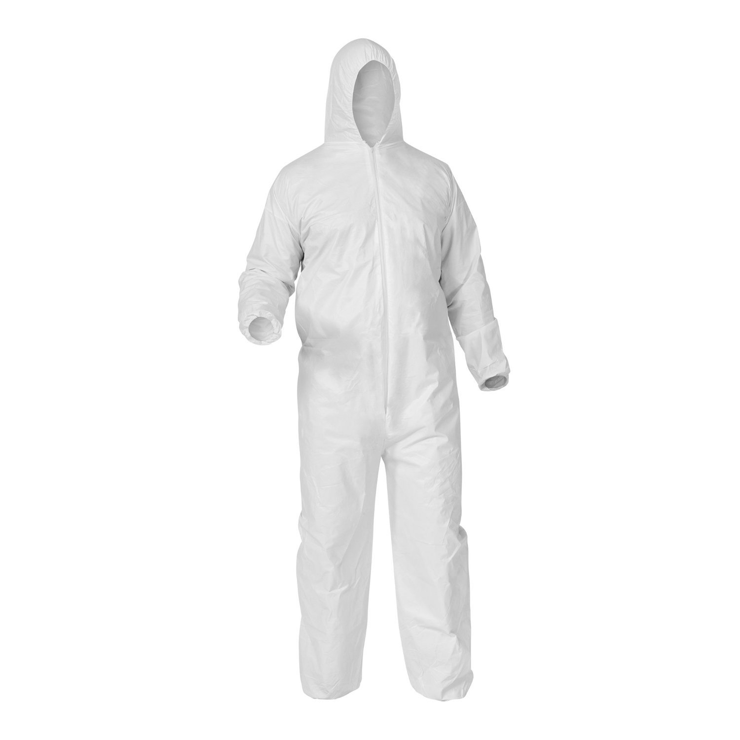 Shield Safety 30G White Disposable Coverall 2X-Large with Attached Hood, 50 Pieces