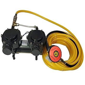 Davv Bomba de diafragma sin Aceite, 12 V, 160 W, compresor de Sistema de Buceo Hookah, Tercer pulmón Serface Air SCU70: Amazon.es: Deportes y aire libre