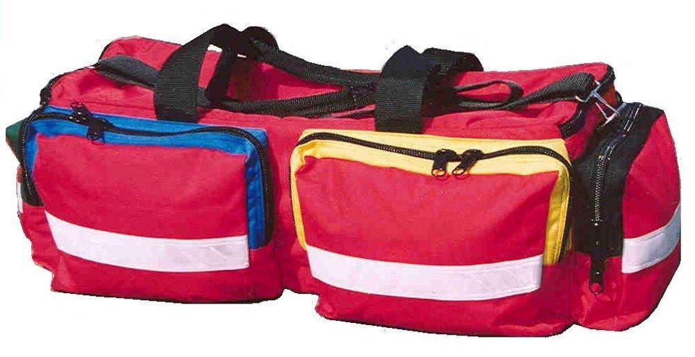 Tough Traveler 100% Made in America O2 Mega EMT/Medic First Responder Oxygen & Airway Bag (Red, E-Size)