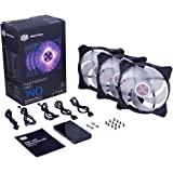 Cooler Master MFY-P4DC-153PC-R1 MasterFan Pro 140 Air Pressure RGB- 140mm Static Pressure RGB Case Fan, 3 in 1 with RGB LED Controller, Computer Cases CPU Coolers and Radiators