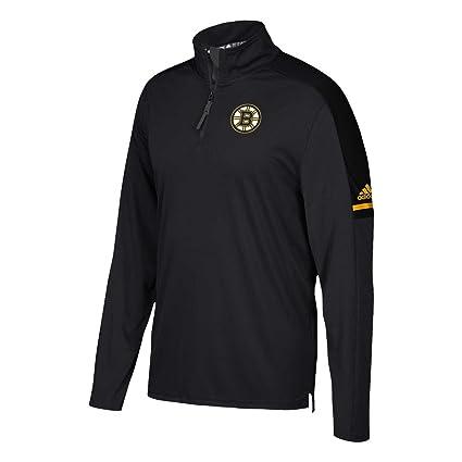 d8704e241 Boston Bruins Adidas NHL Men s 2017 Authentic Pro 1 4 Zip Wind Shirt (Small