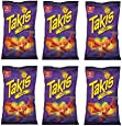 Barcel Takis Fuego HOT Chili Pepper & Lime Corn Snack: 6 Bags of 9.9 Oz
