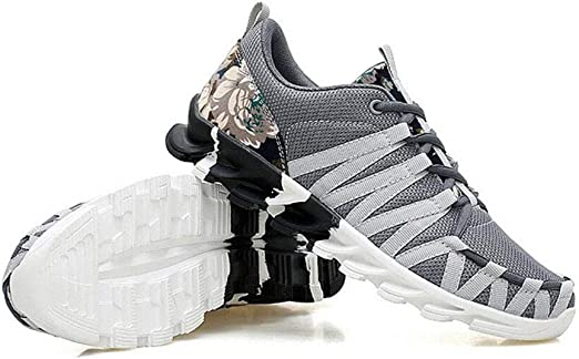 Ligeras Zapatos de hombre, zapatillas de deporte de primavera con cordones, zapatillas de running, zapatillas de deporte ligeras y transpirables para el aire libre, ligeras y resistentes a los impacto: Amazon.es: Jardín