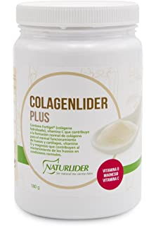 Naturlider Colagenlider- Colágeno hidrolizado con Magnesio, Acido Hialurónico y Vitamina C (180g)