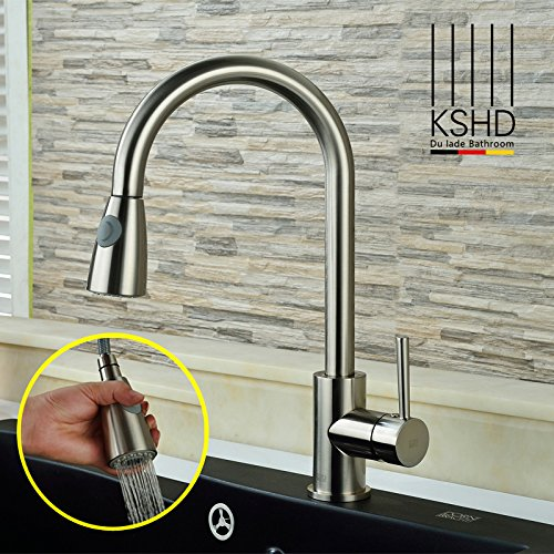 ETERNAL QUALITY Bathroom Sink Basin Tap Brass Mixer Tap Washroom Mixer Faucet The de-copper pull-down to redate the kitchen cold water faucet sink dish tub faucet brushed