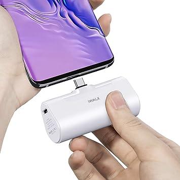 iWALK USB Banco de Energía, 4500mAh Cargador USB Portable C Pack de Batería, Compatible con Samsung Galaxy S10, S9, S8, Note 10/9/8, Switch, Smartphones Android: Amazon.es: Electrónica