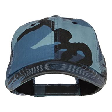 72137eae8461c Enzyme Washed Camouflage Trucker Cap - Blue Camo OSFM at Amazon ...