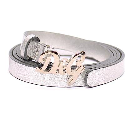 Dolce   Gabbana D G - Ceinture - Femme Argenté argent 95 cm  Amazon ... 1289df8a398