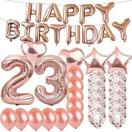 SFSL Globos de látex para decoración de cumpleaños número 23 ...