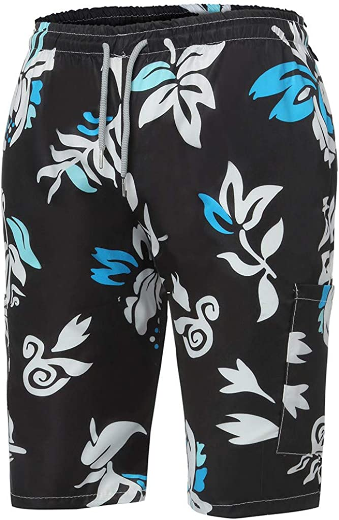 Zackate Swim Trunks Quick Dry Bathing Suits Floral Printed Beach Holiday Party Beachwear Swim Shorts No Mesh