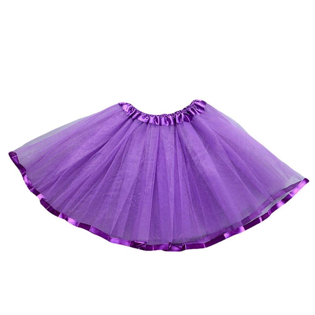 Meiyuan 3 Layers Kids Girls Mesh Ballet Dance Pettiskirt Party Tutu Skirt