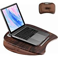 Lap Desk with Cushion for Laptop and Tablet - Fits up to 15.6 inch Slim Laptop, X-Large Laptop Stand with Pillow Cushion…