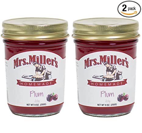 Mr. Millers Amish Homemade Plum Jelly, 9 oz – Pack de 2 ...