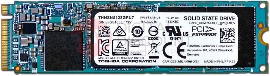 New Toshiba 256GB XG3 m.2 2280 NVMe PCI-E 3.0 x4 SSD THNSN5256GPU7