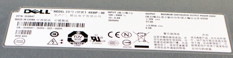 New U8947 Genuine OEM Dell PowerVault DP600 SAS//NF600 NAS PowerEdge 2900 PE2900 Tower Systems 930w Hot-Plug Redundant A930P Z930P Power Supply 310-7407 D9064 KX823 WJ910 XF938 XF937