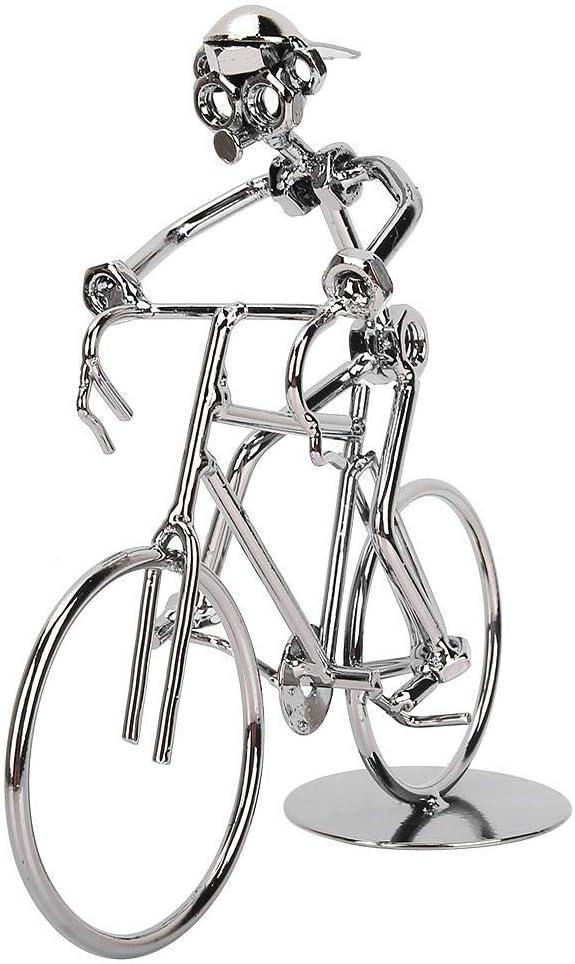 Hilitand Modelo de Bicicleta en Miniatura de Hierro de la Vendimia Modelo de Ciclista, Regalo de cumpleaños, decoración de Escritorio en el hogar