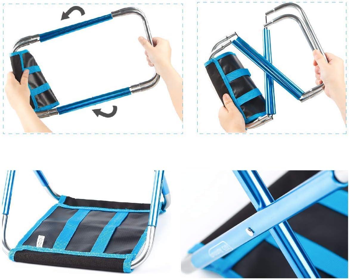 Ideal para Viajes 30 x 27,5 x 31,5 cm port/átil Resistente Ligero Senderismo y Barbacoa con Bolsa de Almacenamiento Taburete Plegable port/átil de Aluminio Accod para Camping