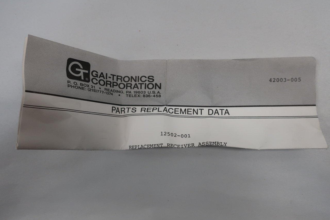 Gai-tronics 12502-001 Replacement Receiver Assembly