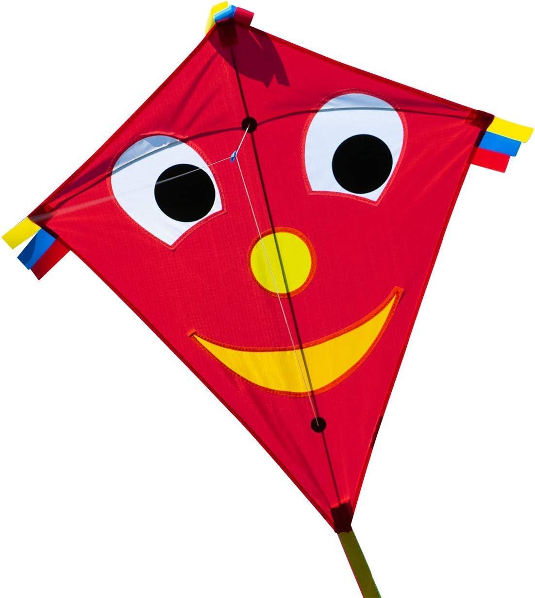 CIM Cometa - Happy Eddy Red - por niños con Edad a Partir de 3 años - 67x70cm - Cordón y Cola de la Cometa incluidos