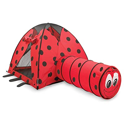 Pacific Play Tents Kids Lady Bug Dome Tent and Crawl Tunnel Combo for Indoor / Outdoor Fun: Toys & Games